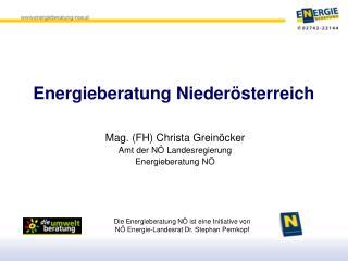 Energieberatung Nieder�sterreich