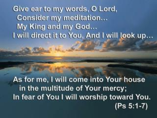Matthew 5:3-5