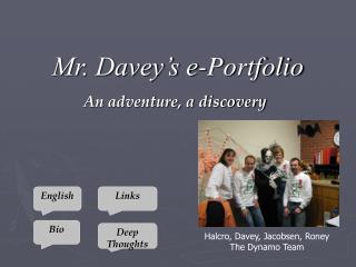 Mr. Davey's e-Portfolio