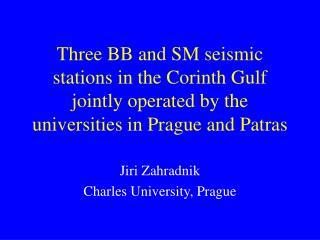 Jiri Zahradnik Charles University, Prague