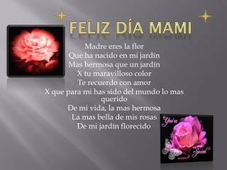 Feliz día mami