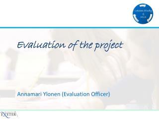 Annamari Ylonen (Evaluation Officer)
