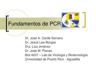 Fundamentos de PCR