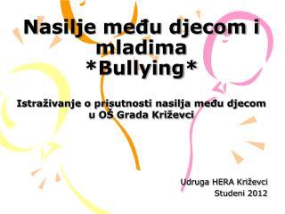 Nasilje među djecom i mladima *Bullying*