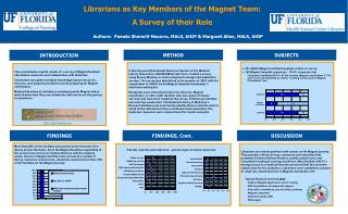 Librarians as Key Members of the Magnet Team: A Survey of their Role