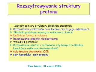 Rozszyfrowywanie struktury protonu
