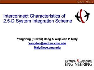 Interconnect Characteristics of 2.5-D System Integration Scheme