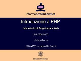 Introduzione a PHP