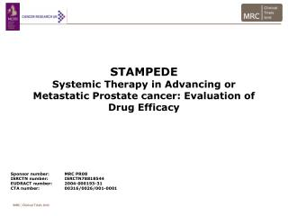 STAMPEDE Systemic Therapy in Advancing or Metastatic Prostate cancer: Evaluation of Drug Efficacy