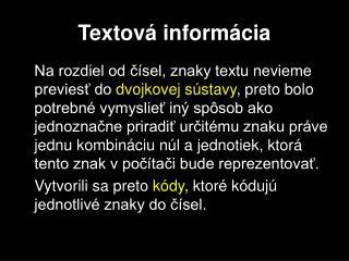 Textová informácia