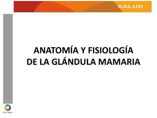 ANATOMÍA Y FISIOLOGÍA  DE LA GLÁNDULA MAMARIA