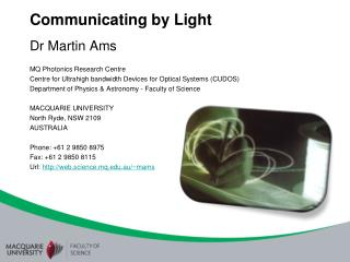 Communicating by Light