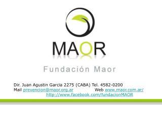 Dir. Juan Agustin Garcia 2275 (CABA) Tel. 4582-0200