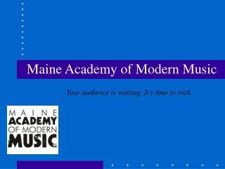 Maine Academy of Modern Music