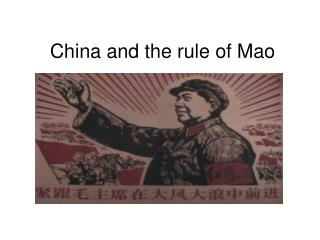 China and the rule of Mao