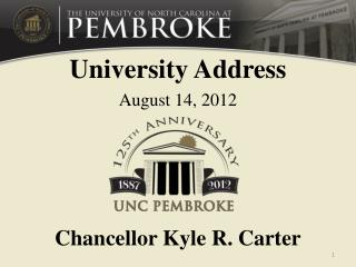 University Address August 14, 2012