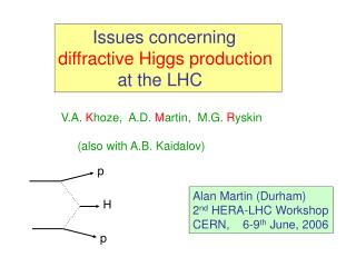 Issues concerning  diffractive Higgs production             at the LHC