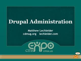 Drupal Administration