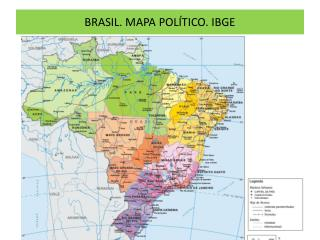 BRASIL. MAPA POL�TICO. IBGE