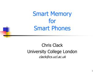 Smart Memory