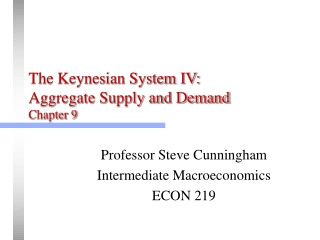 Chapter 14: Macroeconomic Policy