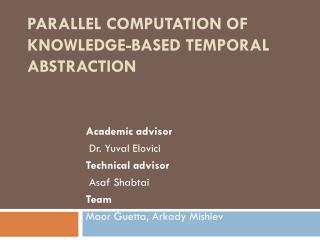 Parallel Computation of Knowledge-Based Temporal Abstraction