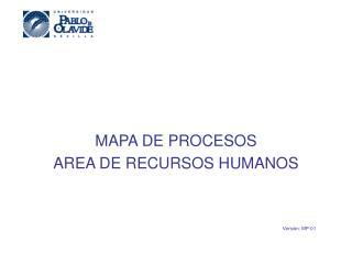 MAPA DE PROCESOS AREA DE RECURSOS HUMANOS Versión: MP-01
