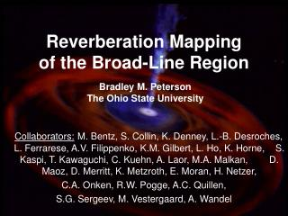 Reverberation Mapping of the Broad-Line Region