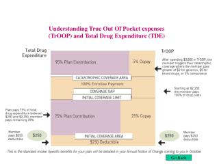 Understanding True Out Of Pocket expenses (TrOOP) and Total Drug Expenditure (TDE)