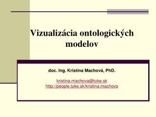 Vizuali zácia ontologických modelov
