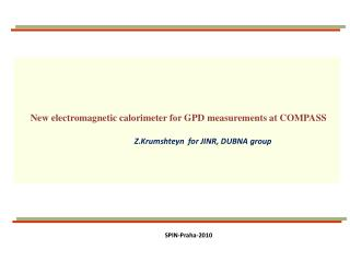 New electromagnetic calorimeter for GPD measurements at COMPASS