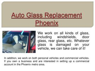 Phoenix Auto Glass Repair
