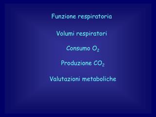Funzione respiratoria
