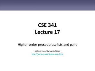 CSE 341 Lecture 17