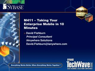 M411 – Taking Your Enterprise Mobile in 10 Minutes