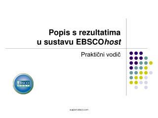 Popis s rezultatima  u sustavu EBSCO host