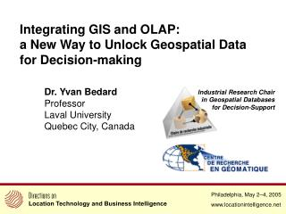 Integrating GIS and OLAP: a New Way to Unlock Geospatial Data for Decision-making