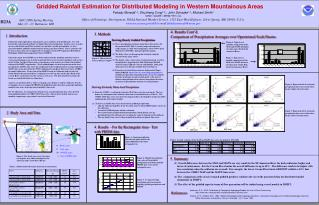 Gridded Rainfall Estimation for Distributed Modeling in Western Mountainous Areas