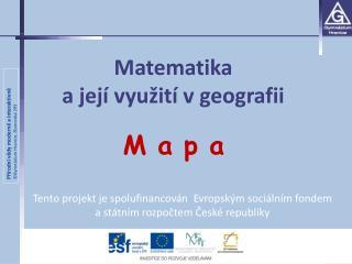 Matematika  a její využití v geografii