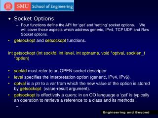 Socket Options