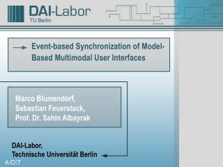 Event-based Synchronization of Model-Based Multimodal User Interfaces