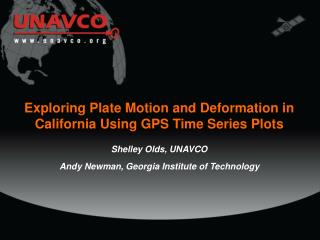 Exploring Plate Motion and Deformation in California Using GPS Time Series Plots