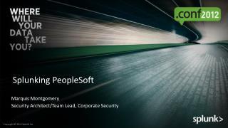Splunking  PeopleSoft