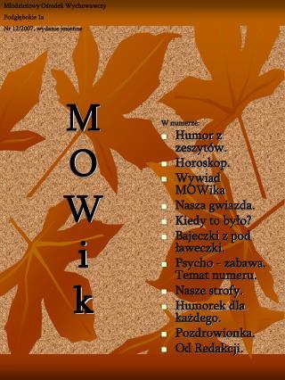 M O W i k