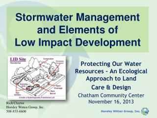 Stormwater Management and Elements of Low Impact Development