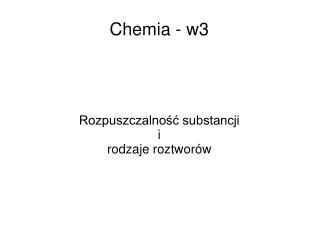 Chemia - w3