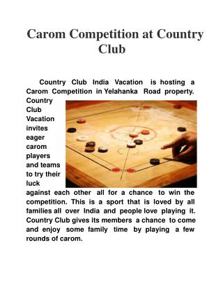 Carom Competition at Country Club