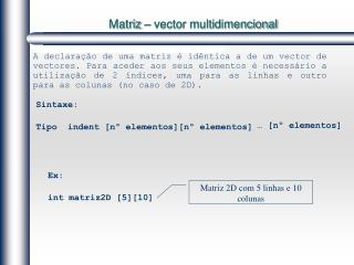 Matriz � vector multidimencional