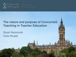 The nature and purpose of Concurrent Teaching in Teacher Education