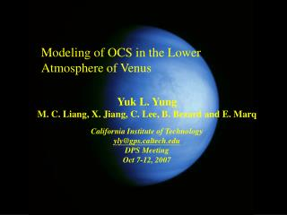 Modeling of OCS in the Lower Atmosphere of Venus